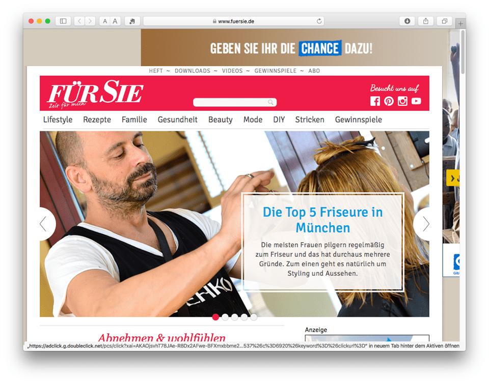 FuerSie.de hat Münchner Friseure unter die Lupe genommen: Tête à porter unter den Top 5