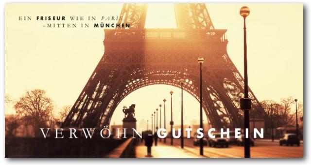 """""""Ein Friseur wie in Paris - mitten in München"""" - Gutschein"""